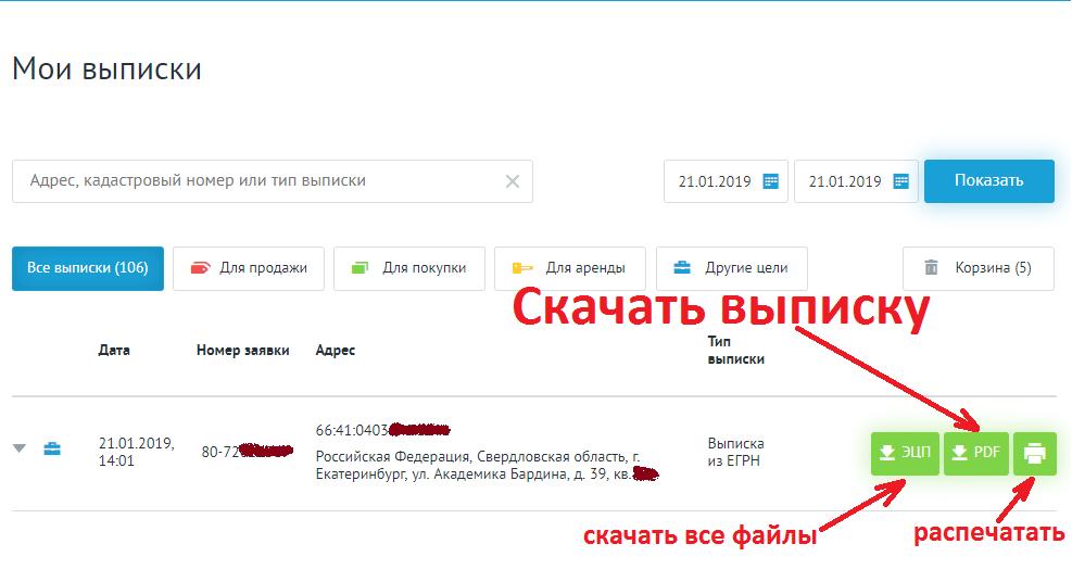 Электронная выписка из ЕГРН с электронной подписью - как.